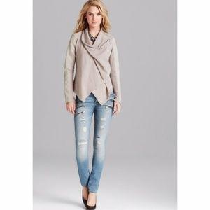 Blanknyc Faux Leather Asymmetric Zip Jacket